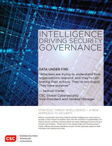 whitepaper intelligence driving security governance